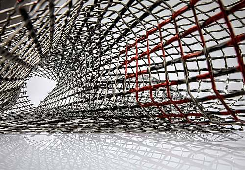 texture worm's eye view photography of metal frame structure