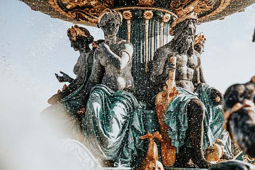 france close-up photography of water fountain art