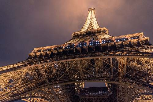 building low angle photo of Eiffel Tower, Paris tower
