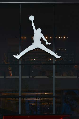 human Air Jordan logo grey