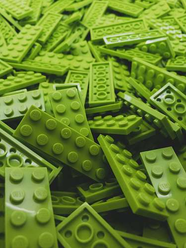 green green Lego block lot food