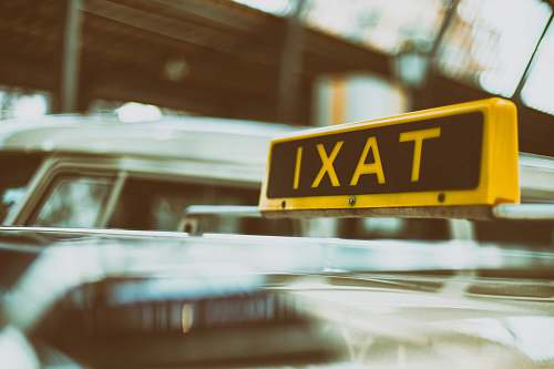 photo cab black and yellow Taxi signage transportation free for commercial use images