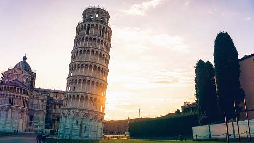 human leaning tower of Pisa people