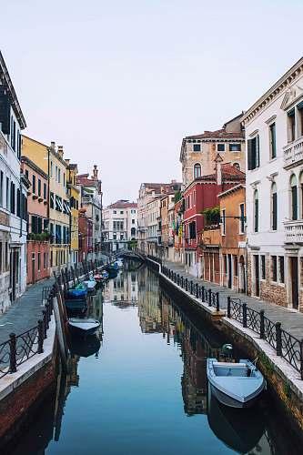 canal boat on venice venice