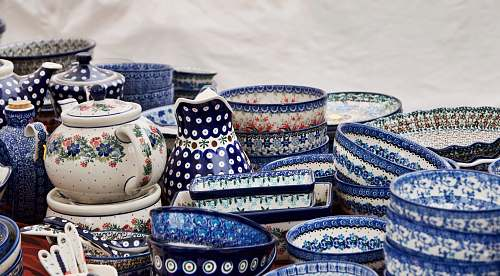 photo porcelain assorted-color ceramic containers pottery free for commercial use images
