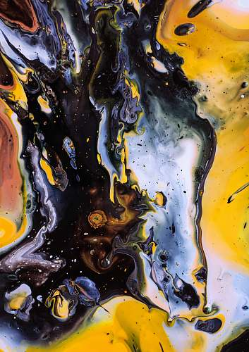 photo modern art black and yellow abstract painting painting free for commercial use images