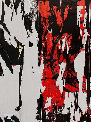 photo modern art black, white, and red abstract painting canvas free for commercial use images
