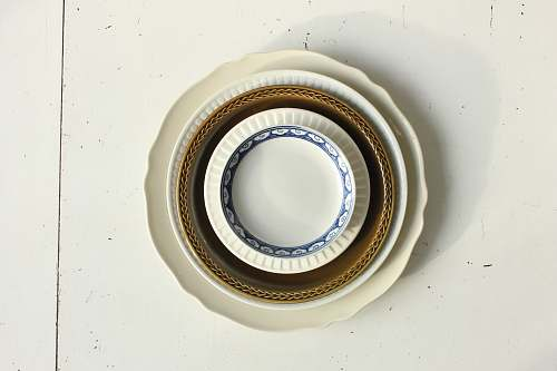 photo pottery flat lay photography of dinnerware set porcelain free for commercial use images