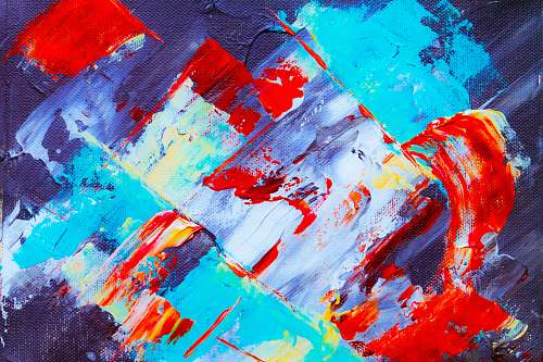 photo modern art multicolored asbtract painting paint container free for commercial use images