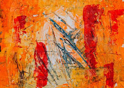 photo modern art orange and red abstract painting painting free for commercial use images