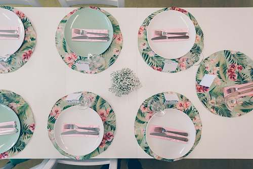 photo pottery plates on table porcelain free for commercial use images