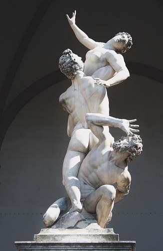 sculpture woman and men statue grey