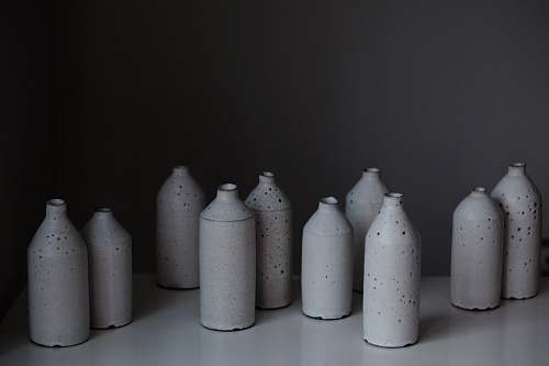 photo porcelain white plastic bottle lot art free for commercial use images