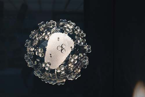 crystal round clear glass decor accessory