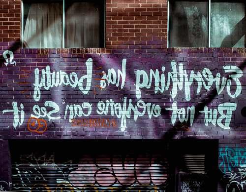 graffiti everything has Beauty wall graffiti building