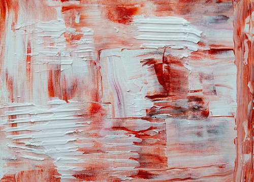 photo modern art white and red abstract painting painting free for commercial use images