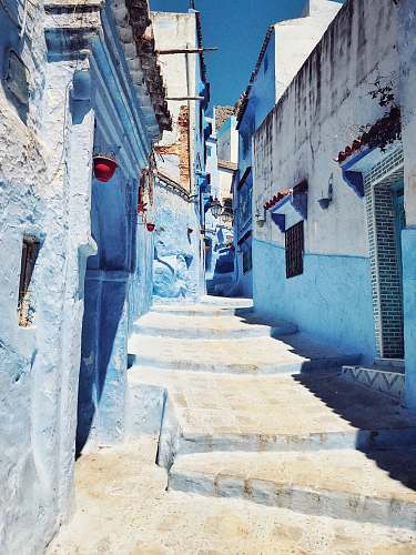 chefchaouen architectural structure photography of houses city