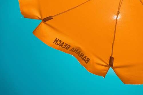 orange orange banana beach-printed umbrella umbrella