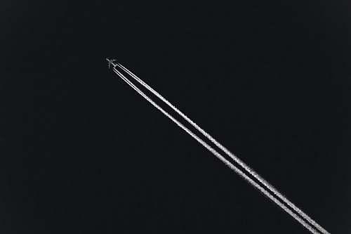 black fighting jet sky