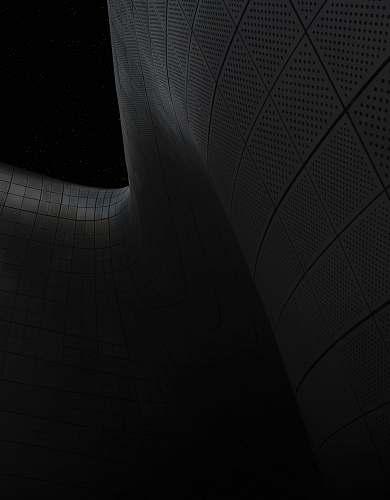 black gray tiles artwork on black background architecture