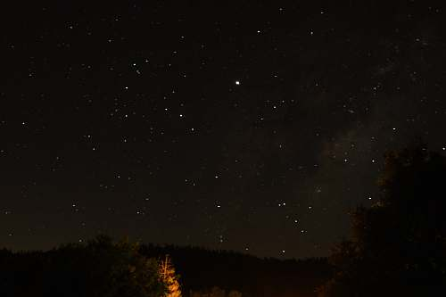 nature starry sky during nighttime outdoors