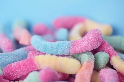 candy gummy worms sweets