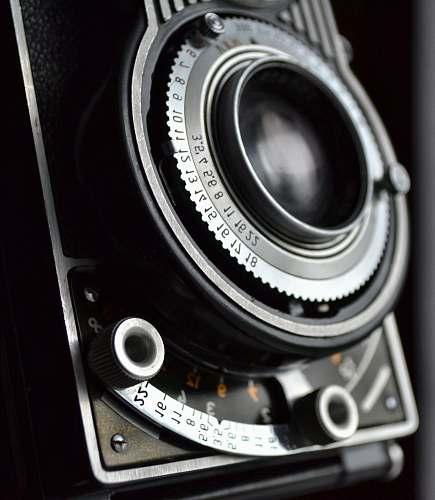 camera close view of black and gray film camera electronics