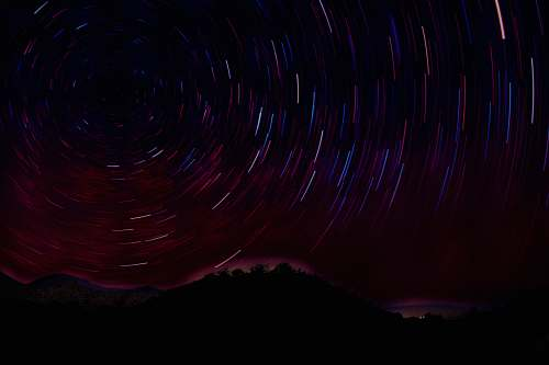 outdoors time-lapse photography of starry night sky black