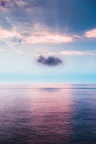 sea cloud above ocean nature