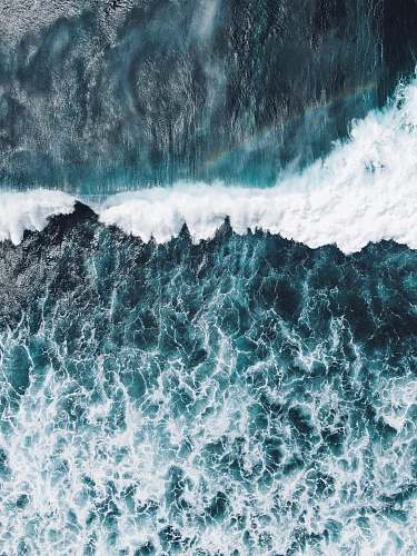 sea sea waves during daytime photo nature