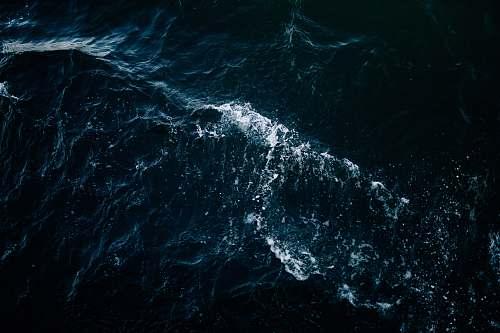 sea high-angle photo of sea with waves ocean