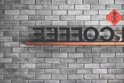 grey coffee freestanding letters decor sign