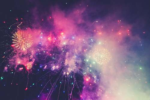 outdoors multicolored fireworks fireworks