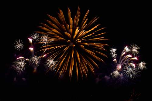 outdoors long exposure photography of fireworks nature