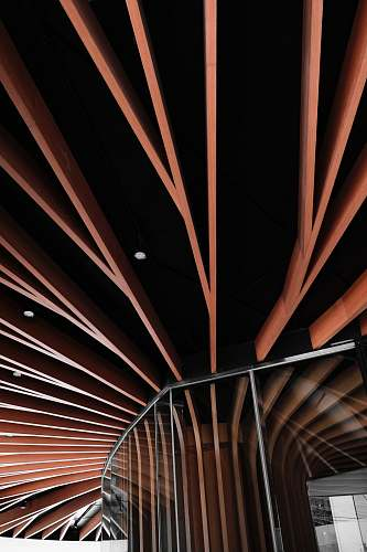 architecture low angled photography of brown ceiling building